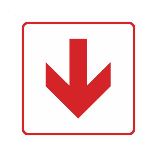 SABS Red Arrow safety sign