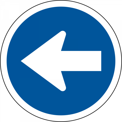 Proceed Left Only